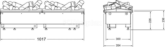 Электрокамин Dimplex Opti-myst Cassette 1000 SS (с дровами). Фото 4
