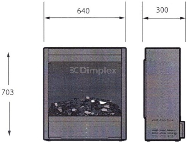 Електрокамін Dimplex Opti-myst Albany. Фото 3